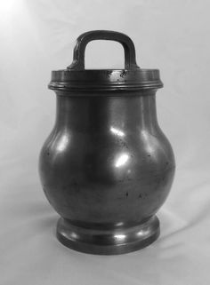Antique pewter lunch or soup pail