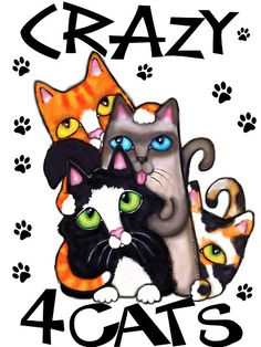 """Crazy For Cats Art Poster Print"" by Jamiecreates1 