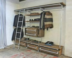 Industrial Closet Design Ideas, Remodels & Photos