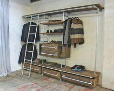 Industrial Closet Design Ideas, Remodels & Photos