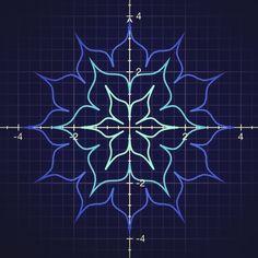 Lotus Equation - more polar coordinates to make a nice flower patterns.