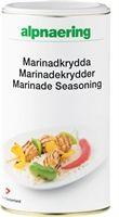 """Alpnaerings Marinadekrydder er en fyldig litt """"hot"""" krydderblanding. Du lager enkelt en god marinade til kylling, kjøtt og grønnsaker.  Marinadekrydder brukes med fordel til å smaksette kjøttdeigretter og når du steker en god kjøttbit."""