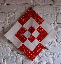 cool red and white block.