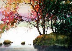 Z.L. Feng, landscape watercolor
