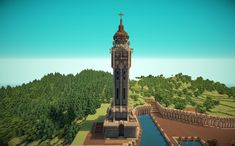 Minecraft Old English Clock Tower by ~lillintu on deviantART