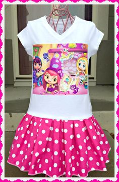 girls Little Charmers Nick Jr party Dress by BlossomBlueBoutique