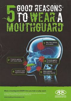 5 Good reasons to wear a ‪#‎MouthGuard‬!