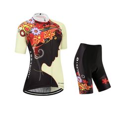 Women's cycling jersey and shorts set ,short sleeve ,JUNGLEST Bust 38-40 inchs. [Important]: After a large data analysis, we found that many buyers chose the wrong size. We recommend that you refer to the size chart in the product picture. 100% polyester multi-denier fabric. The 3D weave reduces contact area with your skin to provide excellent wicking. It dries in the blink of an eye and in fact is the ideal fabric for hot-weather racing. Lightweight polyester fabric dries almost…