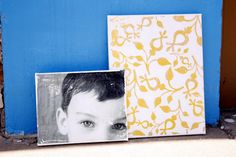Yellow - Distressed Canvas Updated Tutorial - delia creates