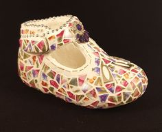 Child keepsake mosaic shoe