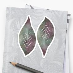 """""""Watercolour leaf abstract"""" Sticker by Mandsred1 