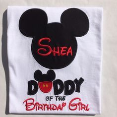 A personal favorite from my Etsy shop https://www.etsy.com/listing/253209706/mickey-daddy-of-the-birthday-boy-or-girl