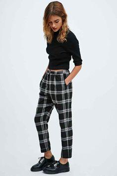Cooperative - Pantalon skinny noir à carreaux