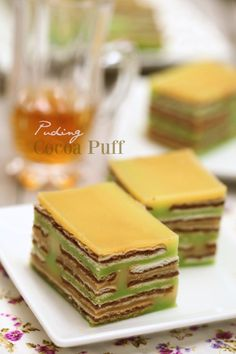 masam manis: Puding Cocoa Puff lembut dan sedap Easy Pudding Recipes, Cocoa Puffs, Steamed Buns, Custard, Jelly, Tart, Food And Drink, Cooking Recipes, Baking