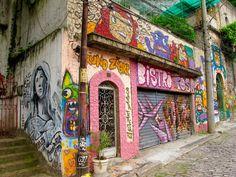 Street art in Santa Teresa, Rio de Janeiro.