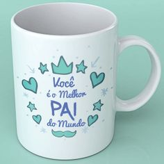 Diy Mugs, Lettering, Store, Tableware, Happy Valentines Day Dad, Funky Home Decor, Porcelain Ceramics, Pintura, Dinnerware