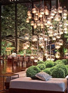 Amazing chandelier - esque light display {via Daily Crush: GREEN WITH ENVY}