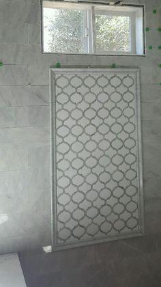 Marrakech Arabesque Waterjet Mosaic Polished Carrara Marble White Thassos Tile | Home & Garden, Home Improvement, Building & Hardware | eBay!