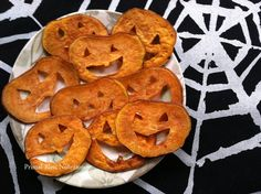 Sweet Potato Jack O' Lantern Crisps!