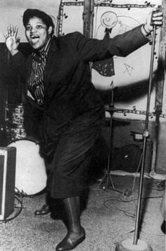 "Willie Mae ""Big Mama"" Thornton (1926-1984) was a rhythm and blues singer and songwriter. She was the first to record the hit song ""Hound Dog"" in 1952. The song was #1 on the Billboard R charts for seven weeks in 1953. The B-side was ""They Call Me Big Mama"", and the single sold almost two million copies."