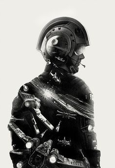 Amazing Star Wars Illustrations by Greg Ruth - Star Wars Poster - Ideas of Star Wars Poster - - Pilot 2 by Greg Ruth Star Wars Fan Art, Double Exposition, Starwars, Mundo Dos Games, Images Star Wars, Fanart, Star Wars Tattoo, Star Wars Wallpaper, Star Wars Gifts