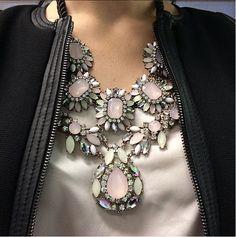 Wearing a statement necklace - Via My Fash Avenue Instagram http://instagram.com/myfashavenue