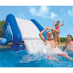 Inflatable Water Park Slide Bounce House Commercial Float Swimming Pool Bouncer  #Unbranded