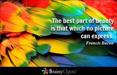 The best part of beauty is that which no picture can express. - Francis Bacon - BrainyQuote