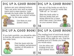 Love this idea! Each month when you get the booklets from Troll or Scholastic to send home with students, place some copies of each in a center and give students the task cards... its a great way to find out what they like to read and teach them different concepts.  I'm thinking that maybe I should make a Math set so that students can add, subtract, etc. the different lists they make with the reading task card set. Just an idea! ~CN
