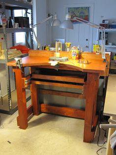 Jeweler's work bench