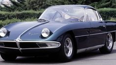 The original Lamborghini prototype, the 1963 350 GTV. Lamborghini, as the old story goes, got its start when old man Ferruccio went over to Ferrari with the idea of sticking a tractor clutch in his sports car and got rejected. It is a company of doing things better than the next guy.