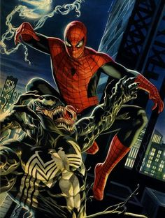 Marvel Comics - Spider-Man and Venom Comic Book Characters, Comic Book Heroes, Marvel Characters, Comic Character, Comic Books Art, Comic Art, Marvel Comics, Marvel Venom, Marvel Art