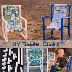 The Perfect DIY PVC Pipe Toddler Chairs