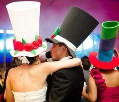 sombreros para novios en goma espuma