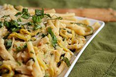 pasta with zucchini cream sauce 7 by crumblycookie, top ten  (6-8 zucchini/squash)
