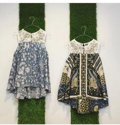 Lace combination batik top                                                                                                                                                                                 More