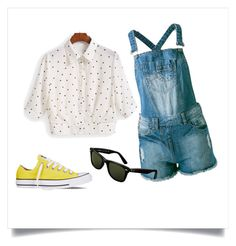 First Day of School by nhskauge on Polyvore featuring Sally&Circle, Converse and Ray-Ban
