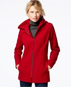 724fa17e019 London Fog Hooded Zip-Front Coat - Coats - Women - Macy s Coats For Women