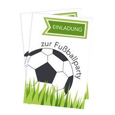 Eine schöne Fußballeinladung für den nächsten Kindergeburtstag / die nächste WM-Party gibt es zum kostenlosen Download auf: www.kinderparty-portal.de  Free printable / 0 €