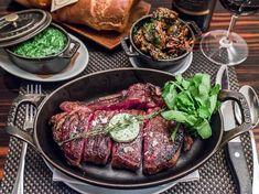 BLT Steak's Strip and American Wagyu Top Cap served in Staub