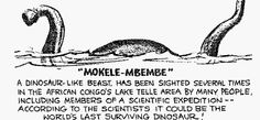 Mokele-Mbembe:  one day i will find you.  Love, Eleah.