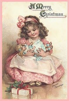 vintage postcard... totally reminds me of my sweet Hannah.