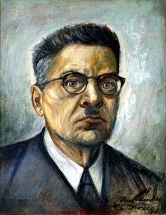 Jose Clemente Orozco, Mexican muralist and social realist painter. 1883-1949. Self Portrait.