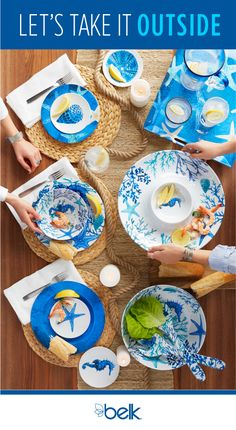 Outdoor entertaining: it's how we do summer in the South. It's the season to decorate the patio, grill outside and set the table in fun, casual dinnerware and serveware for your next backyard BBQ. Find all of your outdoor entertaining essentials in stores or at belk.com.
