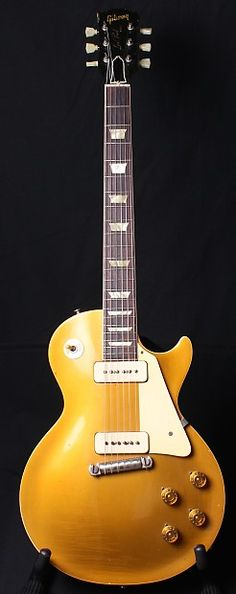 1955 Gibson Les Paul Standard All Gold Goldtop OHSC P90's | Reverb - my first guitar was this model used given to me for Christmas 1959. Traded on a 355