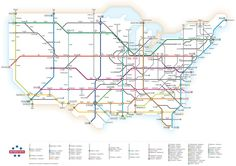 US Interstate Highway System Simplified By Chris Yates Map Usa - Map of interstate highway system in us