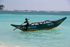 Traditional Sri Lankan fisherman's boat