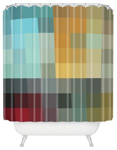 madart inc Refreshing 2 Shower Curtain - contemporary - Shower Curtains - DENY Designs