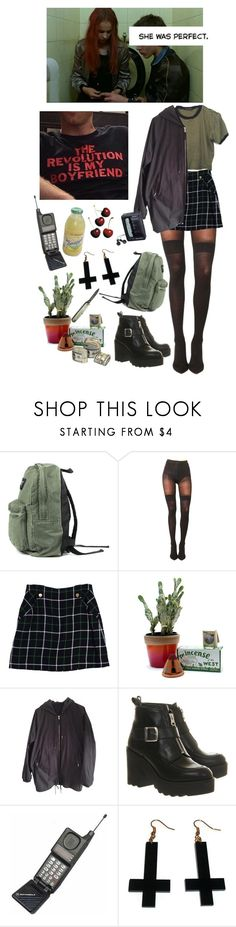 """""""(don't) come back"""" by internetgirl ❤ liked on Polyvore featuring GET LOST, Pretty Polly, Kate Spade, Child Of Wild, Acne Studios, Office, Chicnova Fashion and Sony"""