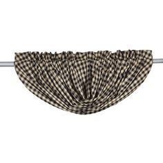 Dress your windows with our very versatile Black Check Lined Balloon Valance! #primitivecountry #curtains https://www.primitivestarquiltshop.com/collections/balloon-valances/products/black-check-lined-balloon-valance